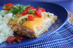 Chicken Enchilada Casserole from Jamie Cooks It Up!