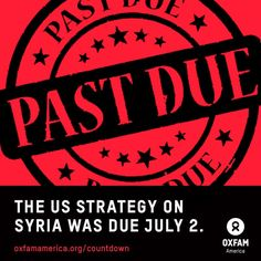 The @WhiteHouse's strategy for #Syria was due yesterday. So where is it? http://ow.ly/yK1TL via @OxfamAmerica