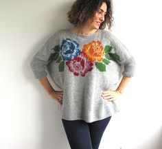 knitted sweater by Arfa on Etsy