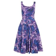 Isobel Dress - Purple Sketchy Floral