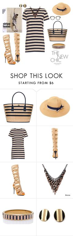 """""""Stylish Stripe noise!"""" by agnesmakoni ❤ liked on Polyvore featuring Tory Burch, NLST, GX, Alexa Starr, Kate Spade, Thom Browne and stripes"""
