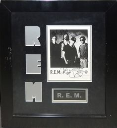 R.E.M. Signed Photo By 4 - Antiquities LV