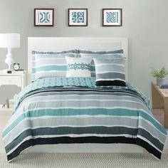 Found it at Wayfair - Tie Dye Striped Comforter Set