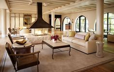 hotel bel air's lobby designed by alexandra champalimaud and david rockwell