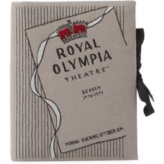OLYMPIA LE TAN Women's Royal Olympia Notebook Clutch - Grey ($550) ❤ liked on Polyvore featuring bags, handbags, clutches, grey, grey handbags, gray handbags, gray purse, grey clutches and grey purse