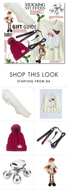 """""""Gift Guide: Stocking Stuffers"""" by svijetlana ❤ liked on Polyvore featuring giftguide, lkid and gearbest"""