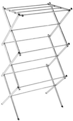 Com Polder Compact Accordion Clothes Drying Rack Chrome Home Kitchen