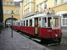 Tramcar in Vienna, Austria London Transport, Public Transport, Austria Tourism, Honeymoon Pictures, My Road Trip, Heart Of Europe, Light Rail, European Tour, Vienna Austria