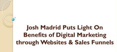 According to Josh King Madrid, Digital Marketing is an expansive term that uses digital platforms such as social media, mobile application Digital Marketing Websites, Smart Strategy, Advertising Strategies, What Is Digital, Brand Promotion, Google Analytics, Digital Technology, Search Engine, Platforms