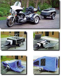 Kompact Kamp Mini Mate Motorcycle Camper Trailer Behind A