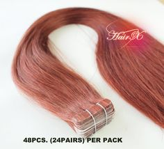 Tape hair extensions Straight 22  Color 37 Amber 48pcs. by hairx, $118.00