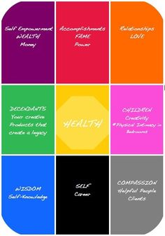 Feng Shui color chart