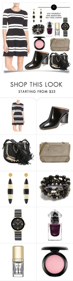 """""""Ask yourself one question: Do I feel good ?"""" by camry-brynn ❤ liked on Polyvore featuring Eliza J, Maison Margiela, Roberto Cavalli, Jérôme Dreyfuss, Marni, Hipchik, Anne Klein, Guerlain, Dolce&Gabbana and MAC Cosmetics"""