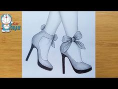 Mar 2020 - How to draw feet with high heels for beginners Pencil Sketches Easy, Pencil Drawings For Beginners, Beginner Sketches, Cute Easy Drawings, Girl Drawing Sketches, Girly Drawings, Art Drawings Sketches Simple, Pencil Art Drawings, Sketch Art