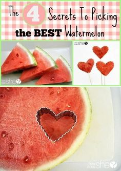 There's nothing quite like a crisp, juicy watermelon on a hot summer day. Supermarket produce bins are bulging with rotund watermelons, but how do you make sure to get the sweetest one? No one likes spending big bucks only to bring home a dud. Fruit Recipes, Cooking Recipes, Cooking Tips, Healthy Snacks, Healthy Recipes, Good Food, Yummy Food, Snacks Für Party, Food Hacks