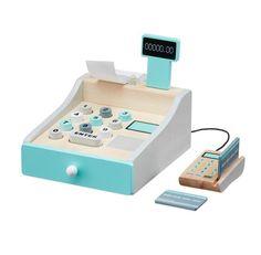 Kid\'s Concept Wooden Cash Register #kidsconcept #woodentoys #woodencashregister #oliverthomas #kidsroom #imaginativeplay