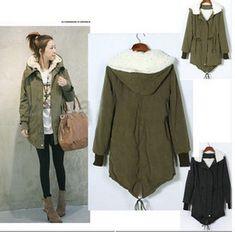 Warm Winter Womens Korean Hooded Parka Overcoat Long Jacket Coat Outerwer s XXL | eBay