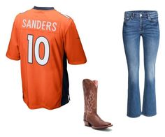 """Broncos game day"" by sami-cardinals on Polyvore featuring NIKE and Ariat"