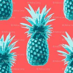 vintage pineapple wallpaper.