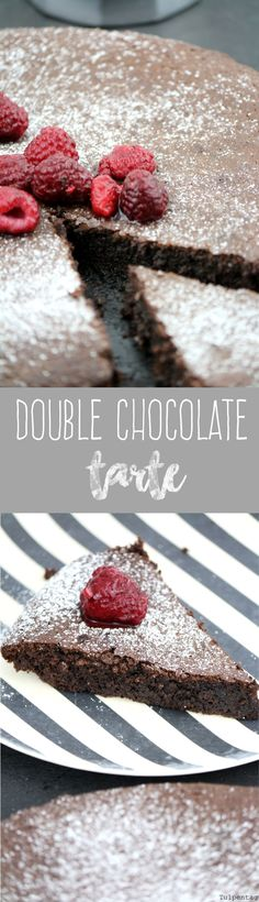 Tulpentag: Double Chocolate Tarte #rezept #schokolade #kuchen #schokoladenkuchen
