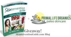 Enter to win the Skintervention Guide & $50 Primal Life Organics gift certificate! http://purelyprimalskincare.com/skincare-saturday-skintervention-primal-life-organics-giveaway/