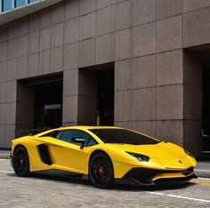 Lamborghini Aventador Super Veloce Coupe Painted In Giallo Taurus Photo  Taken By: @blackfoxphotography On