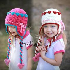 Kid's Sweetheart Crochet Hat with super cute little hearts all around it! Crochet pattern in US Terms - head over to LoveCrochet to download the pattern and make your own!