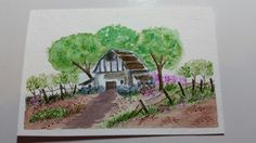 My Art Impressions Watercolor Stamping - Country Barn created by Letty Lucero.