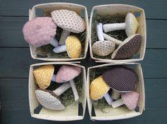 mushrooms (lavender sachets).