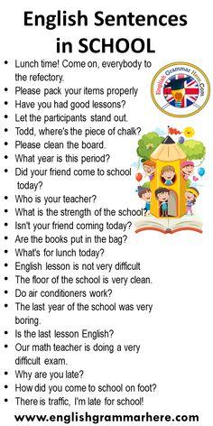 English Learning Spoken, Learning English For Kids, Teaching English Grammar, English Writing Skills, English Language Learning, Learning Italian, English Sentences, English Phrases, Learn English Words