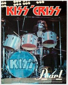 Rare Peter Criss Pearl Drum advertisement