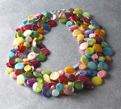 Mother of Pearl Confetti Necklace, Necklaces, Jewelry - The Museum Shop of The Art Institute of Chicago