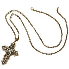 Pearl Lace Cross Necklace. #TailoredWest #Jewelry #CrossJewelry
