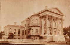 This is a rare photo of the Belle Grove Plantation house while it was still intact.