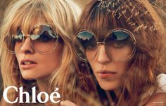 CHLOE RELEASE NEW SS14 CAMPAIGN with Lou Doillon and Julia Stegner love everything about t his.