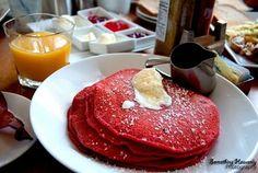 Red Velvet Cake Pancakes