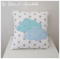 Housse de Coussin pour sieste/ coussin décoratif /doudou thème nuage