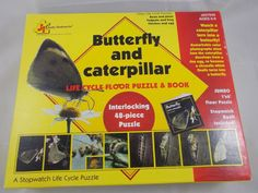 Judy / Instructo Butterfly & Caterpillar Life Cycle Floor Puzzle 48 Pcs 1' x 6' #JudyInstructo