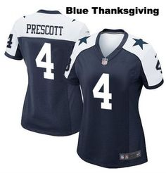 Dallas Cowboys Jersey - #4 Dak Prescott Women's Jerseys
