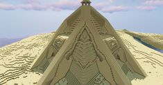 Desert pyramid-temple By u/FallenQsnow Minecraft Pyramid, Minecraft Temple, Minecraft Building Guide, Minecraft Plans, Minecraft Tips, Amazing Minecraft, Minecraft Blueprints, Minecraft Creations, Minecraft Designs