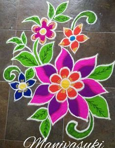Latest Rangoli Designs for Diwali Browse over Ideas & Images on rangoli design for Diwali festival. Diwali is never complete without rangoli colours. Rangoli Designs Latest, Simple Rangoli Designs Images, Rangoli Designs Flower, Rangoli Border Designs, Rangoli Patterns, Colorful Rangoli Designs, Rangoli Ideas, Rangoli Designs Diwali, Diwali Rangoli