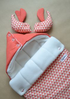 Sleeping bag for newborn, Swaddle Wrap for Babies, SLEEP SACK, Knit Cocoons, bird, geometry, winter, coral, triangle,
