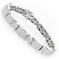 Dazzling Pave Diamond Bracelet in 14K Gold 6.04ct