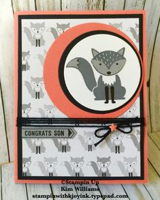 """Have you seen the new """"Foxy Friends"""" stamp set and coordinating """" Fox Builder""""…"""