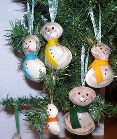 Des boules de Noel en coquillage pour votre sapin : Accessoires de maison par…