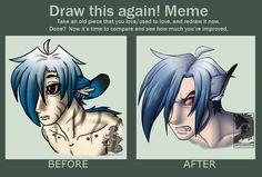 Draw this again meme by Japandragon.deviantart.com
