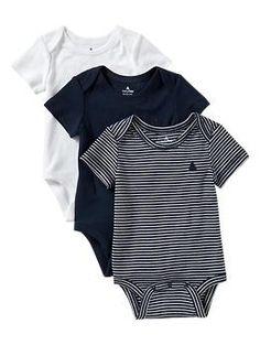 Favorite stripe bodysuit (3-pack) | Gap