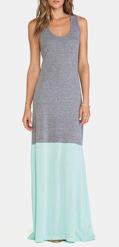 De Lacy DeLacy Laurel Tank Maxi Dress in Grey