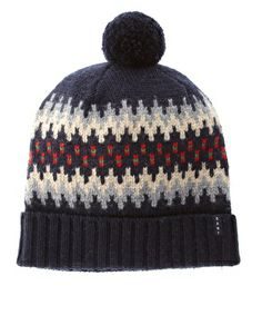 gant fairisle bobble hat