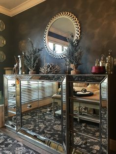 Dining Room Sets with Buffet Fresh Pin by Nada Nasr On Rooms In 2020 Living Room Hutch, Timber Dining Table, Dining Room Sideboard, Living Room Mirrors, Glass Dining Table, Dining Room Sets, My Living Room, Dining Room Furniture, Mirror Buffet